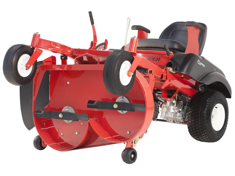 avenue mower with patented stand up deck